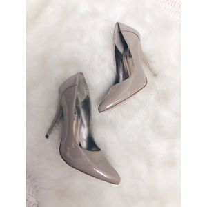 Steve Madden Nude Patent Leather Pointed Toe Pump